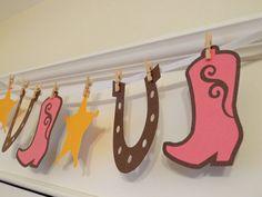Western Cowgirl Banner Birthdays Shower by EricasCrafties on Etsy