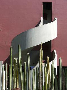 Diego Rivera's studio by Juan O´Gorman (Photo by L. Benkard)