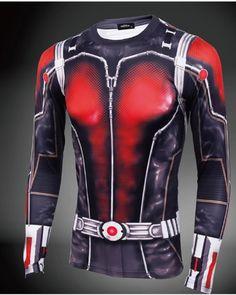 ant man long sleeve t shirt superhero cosplay costume