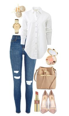 """""""Inspired SPRING"""" by zistyle on Polyvore featuring Loushelou, Yves Saint Laurent, rag & bone, Semilla, Ted Baker, Movado and tarte"""