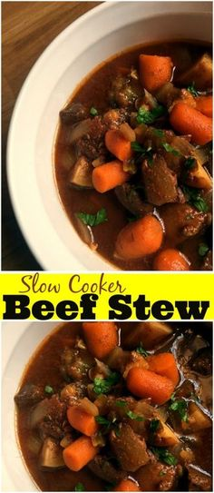 This Slow Cooker Beef Stew is one of our easiest crock pot recipes! This dump and go stew is absolutely delicious and perfect for a prep ahead freezer meal as well! A real family favorite!