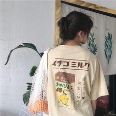 Lady Mori Girls T-Shirt Tee Harajuku Kawaii Short Sleeve Loose Japanese School #ebay #Fashion
