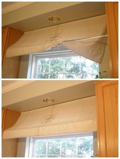 Give a curtain some lovely dimension by draping it over a second rod. See more at Musing From a French Cottage »