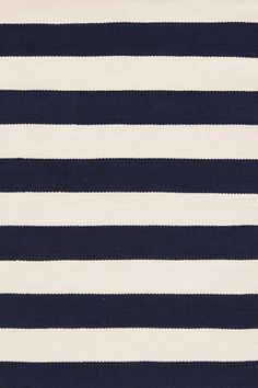 Dash + Albert Catamaran Stripe navy/ivory indoor-outdoor rug