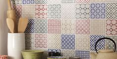 Choose tiles from the same collection which will naturally sit well together like this Batik range from Topps Tiles.