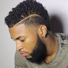 Black Male Hairstyles Pleasing Nice Lineup And Beard Black Men Haircuts Pinterest  Lineup