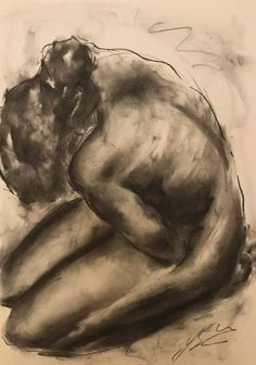 Original charcoal drawing on paper by James Shipton My works are heavily influenced by the art work of Degas and Gustav Klimt. My desire i Body Drawing, Life Drawing, Figure Drawing, Charcoal Sketch, Charcoal Art, Charcole Drawings, Fantasy Paintings, Ap Art, Original Art For Sale