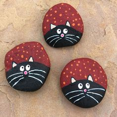 Rock Painting Ideas - Cats