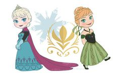 Chibi Elsa and Anna by kuro-vortex92