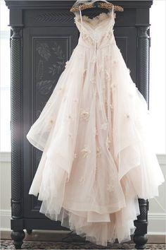 Watters Olivia gown is breathtakingly amazing.  #weddingdress #wedding  http://www.weddingchicks.com/2013/11/26/unique-wedding-muisic/