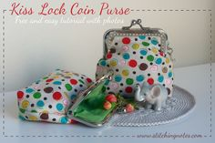 this seems best for my needs! Stitching Notes: Tutorial: Kiss Lock Coin Purse