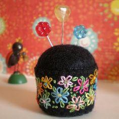emma lamb: colour your monday happy... pincushion