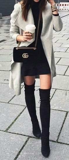 24bbd886a67 How to wear his Thigh Boots in way Chic Comment porter ses cuissardes de  façon chic     How to wear his Thigh Boots in way Chic