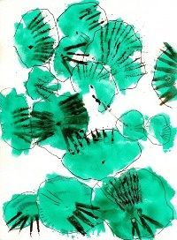 adnan mirza art - Google Search simple ink drawing roughly coloured in