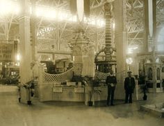 German food exhibit in the Palace of Agriculture at the 1904 World's Fair | Missouri History Museum #German #food