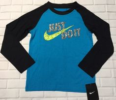 271c8b4b Nike Girls Size 6 Just Do It Long Sleeve Shirt Blue Lagoon 86A591-B22