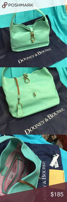 Dooney and Bourke Hobo Brand new Dooney and Bourke Hobo, Mint, between a turquoise and green, so beautiful comes with Key holder and Dust Bag Dooney & Bourke Bags Hobos