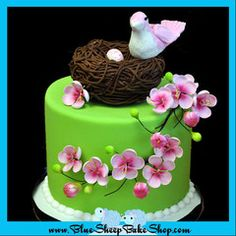 This is one of my favorites on myshopify.com: Baby Bird Baby Shower Cake