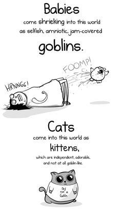 Having A Baby VS Having A Cat (9 Pics) | Bored Panda