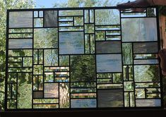 Stained Glass Window Transom  Clear Glass by stainedglassfusion