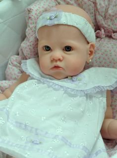 "CUSTOM Order Reborn Gorgeous Blue Eyed Baby Girl ""Sharlamae"" w/Tummy Plate"
