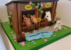 Horse Stable Birthday Cake
