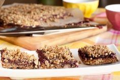 Tongue Twisted Buckwheat Berry Binge Bars (Vegan, Gluten free, Dairy free, Refined sugar free, Yeast free, Corn free) -- Light, sugar free bars with a crunchy buckwheat topping