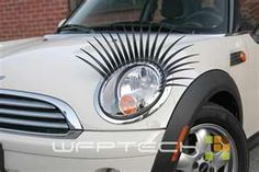 headlight lashes... I like girlie car accessories