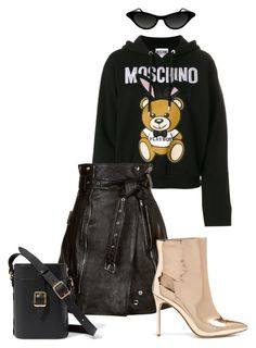 """""""Без названия #4"""" by m-linev on Polyvore featuring мода, Moschino, Alexander McQueen и Forever 21"""