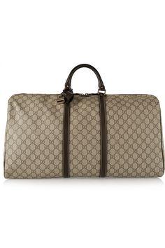Gucci   Joy large leather-trimmed coated-canvas weekend bag   NET-A-PORTER.COM