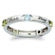Birthstone Family Name Ring  Mother's Day?? (hint, hint)