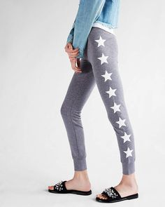 6336b59305794 Express One Eleven Star Marled Stretch Terry Leggings Cute Stars, Sport  Outfits, Sexy Outfits