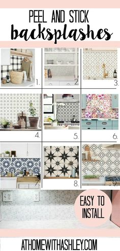 DIY peel and stick tile backsplash. Are you looking for a quick fix for your kitchen or bathroom back splashes? I share how to install vinyl marble hexagon removeable tile. It is super easy and needs no grout! Plus ideas… Continue Reading → Kitchen Backsplash Peel And Stick, Easy Backsplash, Peel N Stick Backsplash, Peel And Stick Tile, Painting Tile Backsplash, Bathroom Backsplash Tile, Bathroom Marble, Stick On Tiles Bathroom, Removable Backsplash