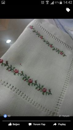 This post was discovered by Fe Cross Stitch Borders, Cross Stitch Patterns, Embroidery Designs, Elsa, Diy And Crafts, Projects To Try, Bargello, Cross Stitch Embroidery, Towels