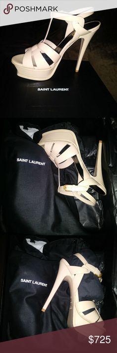 yves saint laurent tribute platform sandals Brand New. Never used. Tanned. Size 36+ Yves Saint Laurent Shoes Platforms