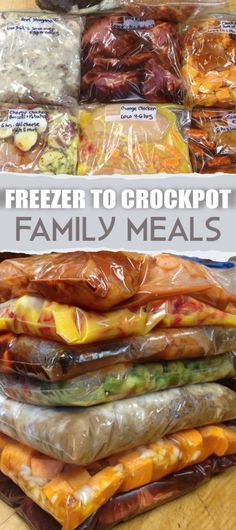 Easy Crock Pot Freezer Meals Freezer to crockpot family meals. Over a month of easy recipes for stress free weeknight dinners.Freezer to crockpot family meals. Over a month of easy recipes for stress free weeknight dinners. Freezer Bag Meals, Make Ahead Meals, Freezer Recipes, Freezer To Crockpot Meals, Healthy Family Meals, Freezer Dinner, Ww Recipes, Dinner Crockpot, Tuna Recipes