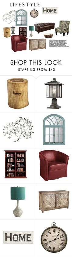 """Lifestyle"" by chauert ❤ liked on Polyvore featuring interior, interiors, interior design, home, home decor, interior decorating, Pier 1 Imports, Z-Lite, Primitives By Kathy and Howard Miller"