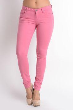 Pink Stretch Legging Pants