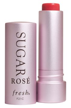 This Fresh Sugar lip treatment has the best rosy tint.