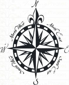Compass Rose - Beautiful Wall Decals