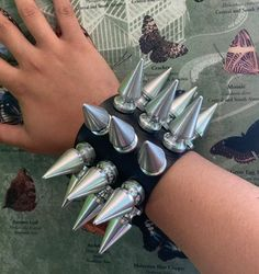 Bangles, Spikes, Leather, Instagram, Bangle, Jewerly, Bracelets, Cnd Nails, Riveting