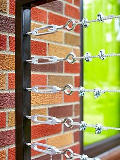 Steel cable railing Try one of these to hang patio curtains