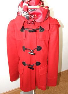 Kaufe meinen Artikel bei #Kleiderkreisel http://www.kleiderkreisel.de/damenmode/halblange-mantel/135773123-hallhuber-dufflecoat-mit-kapuze-gr-34-rot