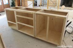 Building DIY kitchen cabinets