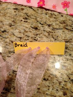 Toddler busy bags - braiding