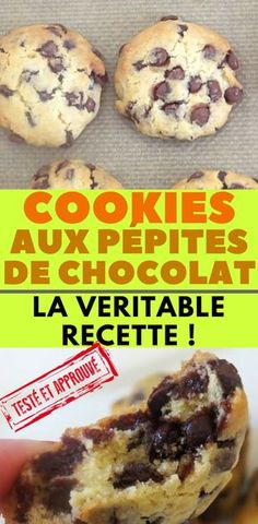 Cookies Moelleux Americain Ideas For 2019 Cookie Dough Recipes, Easy Cookie Recipes, Cupcake Recipes, Easy Recipes, Healthy Recipes, Chef Recipes, Snack Recipes, Dessert Recipes, Chocolate Chip Cookies