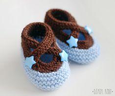Crochet baby shoes | Купить Пинетки звездные (разные цвета) - однотонный, голубой, новорожденному, детская обувь, звезды