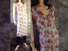 Retro 30s Bias Cut Floral Dress #sixcatsfunVINTAGE #biascutdress #30sdress #flapperdress #gatsbydress #sixcatsfun #teadress #bohodress #angiedress #90sdoes30s