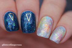 TUTORIAL   Opal nails ~ Glitterfingersss in english