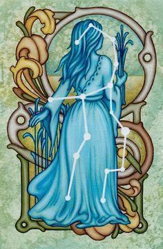 Virgo, the Maiden Goddess Constellation by Valerie Anderson